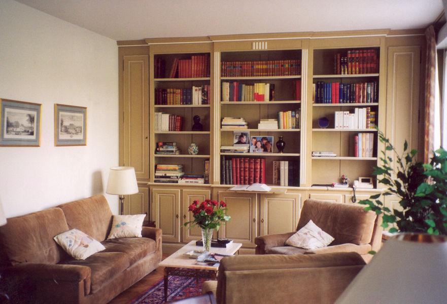 Menuisier agenceur dressing rangement et biblioth que sur mesure l 39 atelier du moulin loy for Bibliotheque pour salon