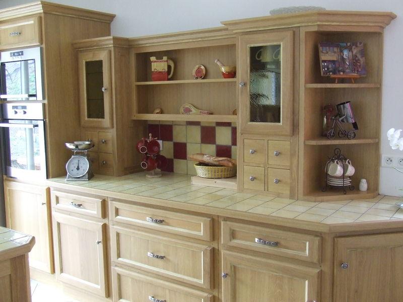 Modele de cuisine en bois peint - Evier ancien cuisine ...