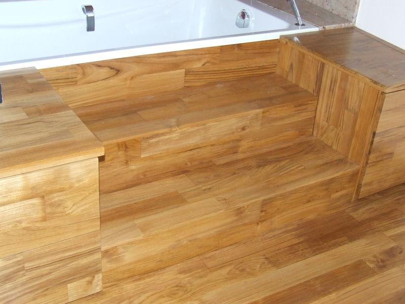 Habillage Baignoire Bois Teck : Menuisier ?b?niste : fabrication et pose de salle de bain sur mesure